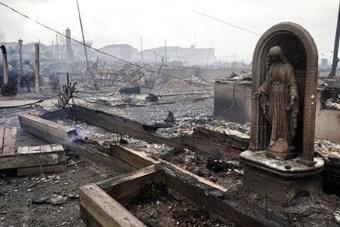 Imagem incólume no Furacão Sandy e incêndio que se seguiu - Outubro de 2012