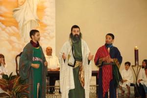 Encenação da Transfiguração do Senhor, na Paróquia São Pedro - Praia do Suá