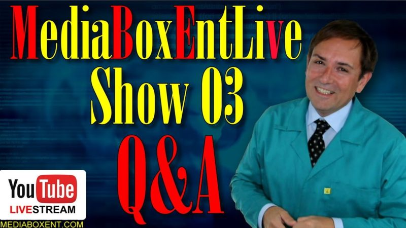 💫LIVE BROADCAST! MediaBoxEnt Q&A Show 03
