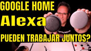 vamos a sincronizar los dos equipos Alexa y Google Home para que trabajen justos!
