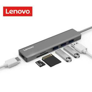 Lenovo USB C Hub, Ultra Slim Aluminum USB C Adapter With 3 USB 3.0 Ports