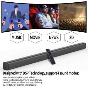 Sound Bar with Built-in Dual Subwoofer TV Soundbar