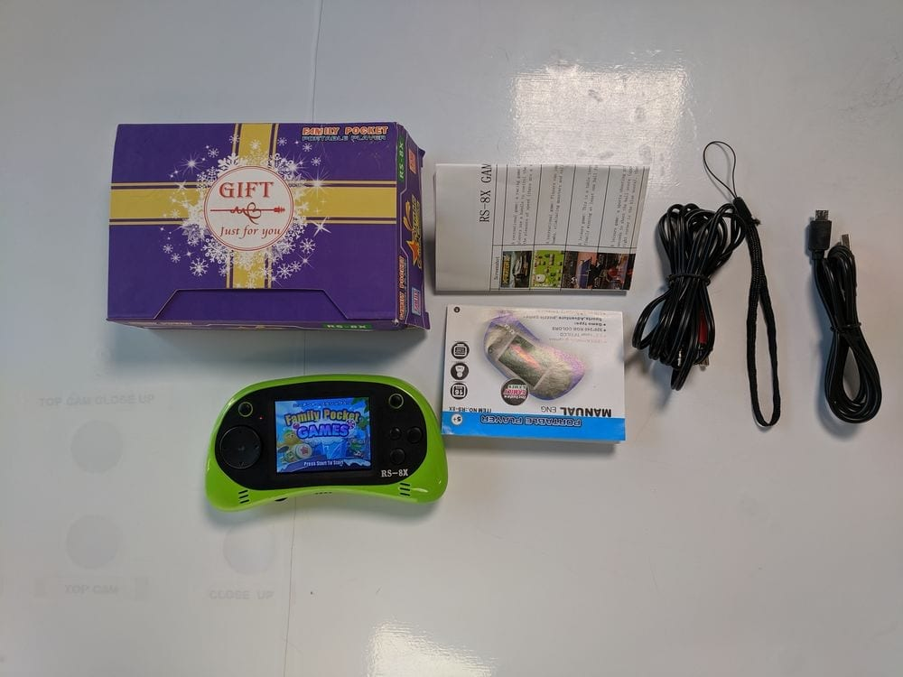 Game Player, RS-8X 16 Bit HD Handheld Game Console Built-in 42 Classic Games