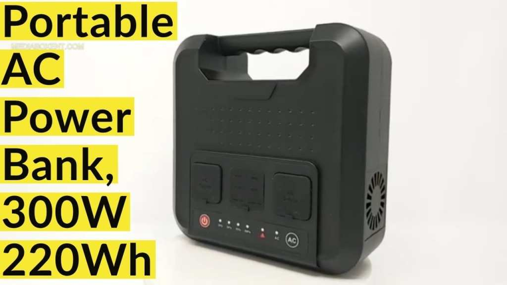Portable AC Power Bank, 300W 220Wh Pure Sine Wave Power Station Inverter Generator
