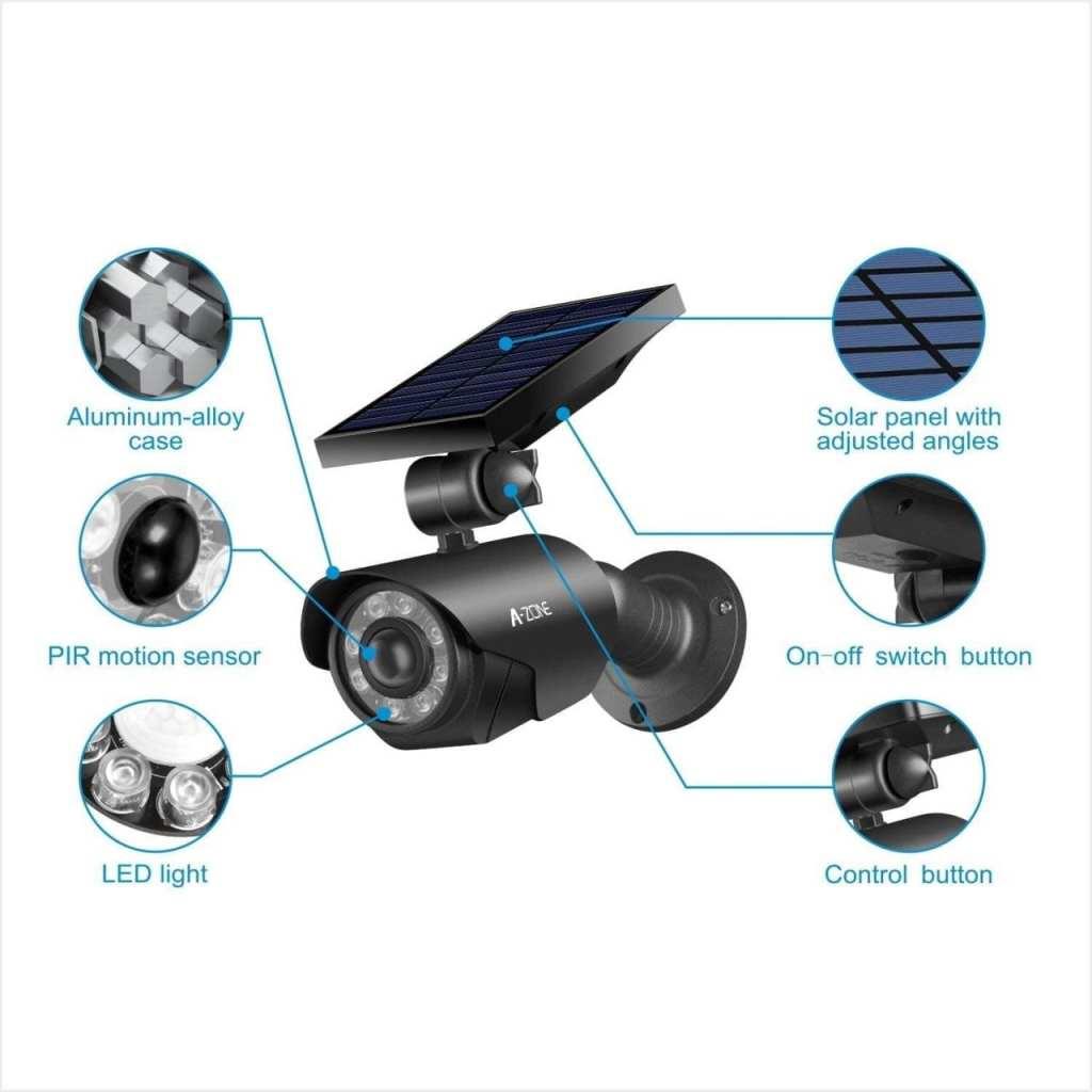 AZONE SOLAR POWERED SECURITY LIGHT