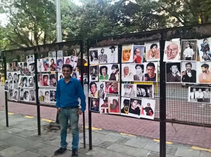 image-saurabh-Turakhia_With-His-Celebrioty-Portraits-At-Kala-Ghoda-in-Muimbai-The-Good-Stuff-Mediabrief