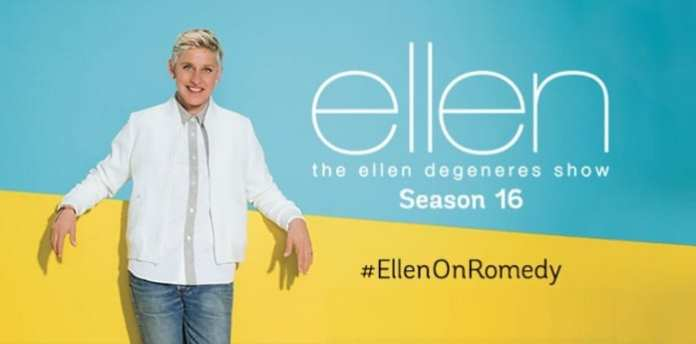 The Ellen DeGeneres Show SE16 premieres 05 Sep on @RomedyNOW 1