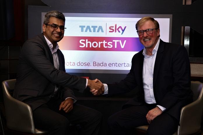 image-Arun-Unni-CCO-Tata-Sky-and-Carter-Pilcher-CEO-Shorts International-Tata Sky ShortsTV-mediabrief