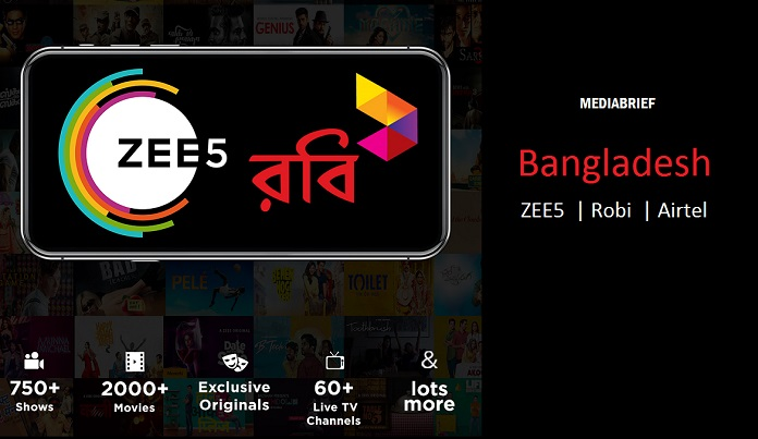 image-ZEE5 enters Bangladesh through deal with Robi and Airtel MediaBrief
