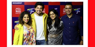 RJ Malishka - Darshan Rawal - Nisha Narayanan COO Director RED FM and Magic FM and Rajat Uppal National Marketing Head RED FM at RED FM's Indie Hain Hum show launch-MediaBrief