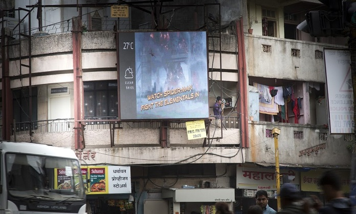 Image - India's first OOH Programmatic campaign is for SpiderMan-FFH-from Dentsu Webchutney and Sony Pictures Entertainment-mediabrief