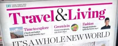 IMAGE-TRAVEL&LIVING IN dECCAN hERALD-MEDIABRIEF