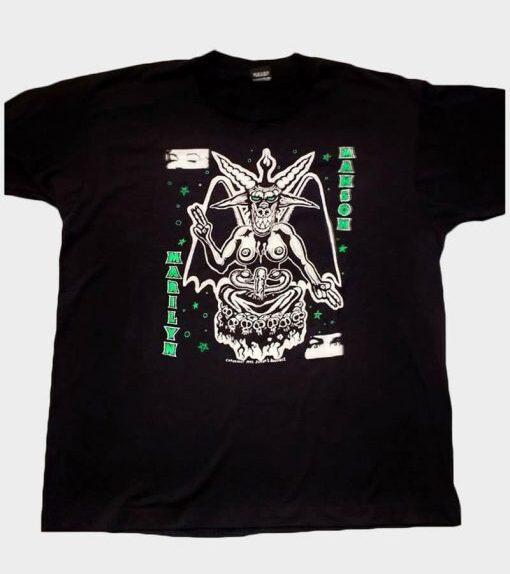 Baju termahal Kaos Grafis Marilyn Manson 1992
