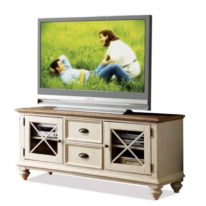 Riverside Furniture Coventry Two Tone TV Console In Dover White 32540