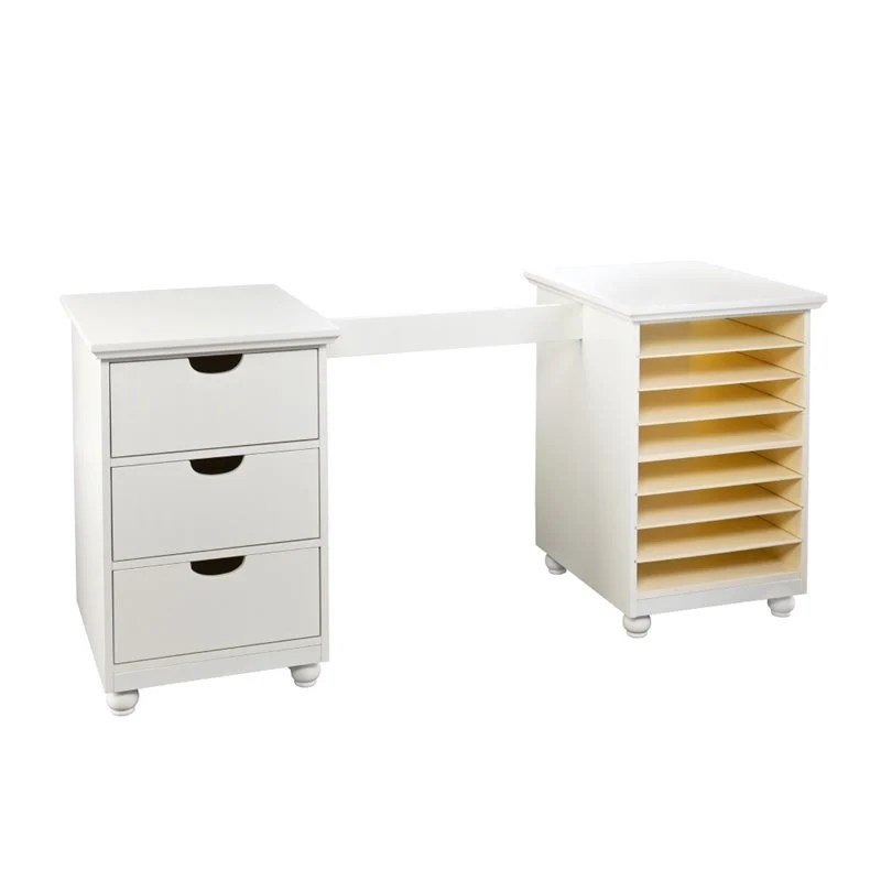 Southern Enterprises Anna Griffin Craft Room Desk White