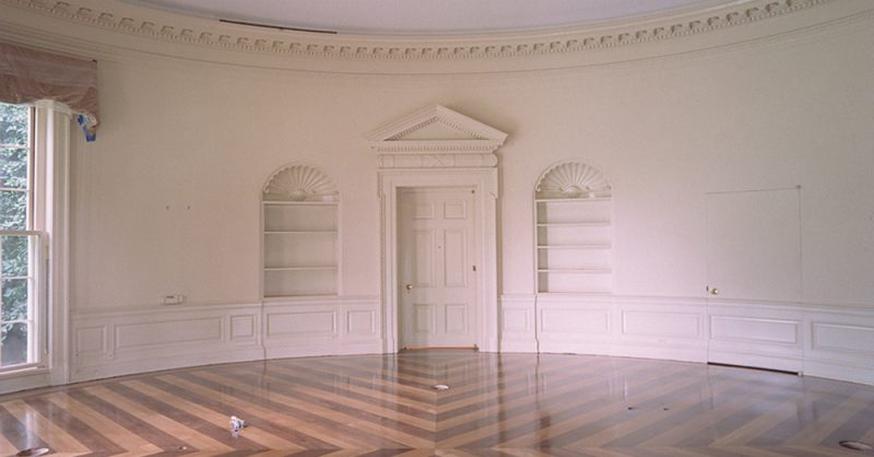 Oval Office without Carpet