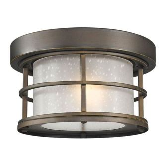 Flush Mount Outdoor Ceiling Lighting Free Shipping   Bellacor Exterior Additions Oil Rubbed Bronze 10 Inch One Light Outdoor Ceiling Light  with Frosted