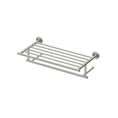latitude ii 18 inch minimalist towel rack in satin nickel
