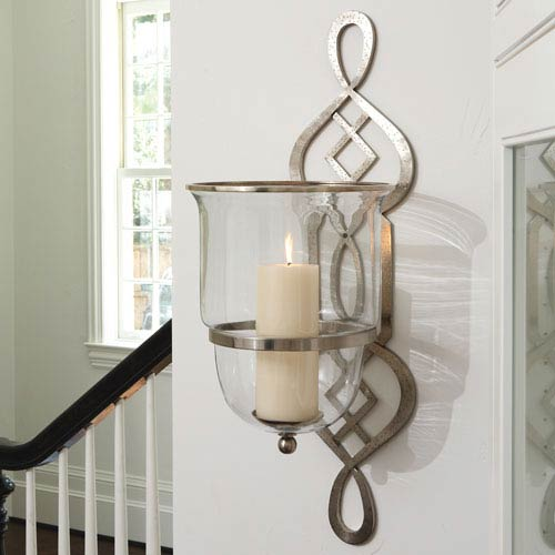 Decorative Candle Holders & Candle Sconces   Bellacor on Decorative Wall Sconces Candle Holders Chrome id=28611