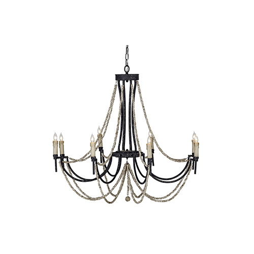 Black Chandeliers   500  Crystal  Wrought Iron   Mini Chandeliers In     Percy Rusty Black and Distressed Ivory Eight Light Chandelier