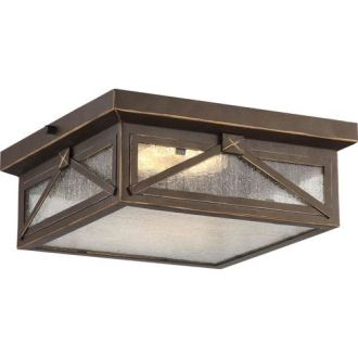 Outdoor Ceiling Lighting   Exterior Light Fixtures   Bellacor Roxton Umber Bay LED Outdoor Flush Mount