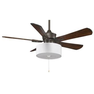 Fanimation Islander Oil Rubbed Bronze 52 Inch Ceiling Fan With     Fanimation Islander Oil Rubbed Bronze 52 Inch Ceiling Fan with Walnut  Blades and Drum Shade