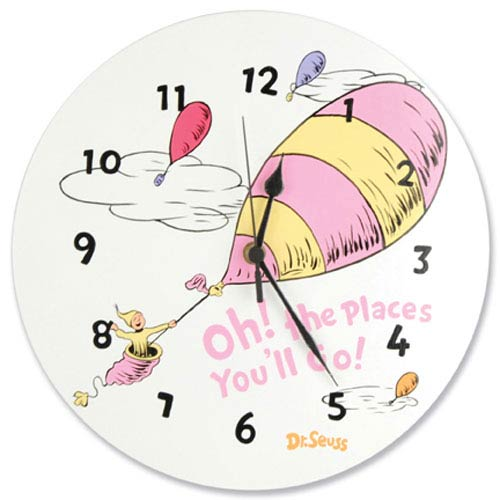 Trend Lab Dr Seuss Oh The Places Youll Go Pink Wall Clock