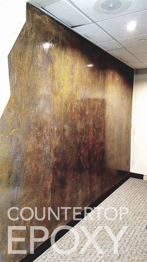 shower and accent wall epoxy metallic