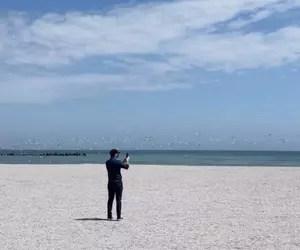 Premierul Florin Cîțu, Instastory de pe plaja din Mamaia