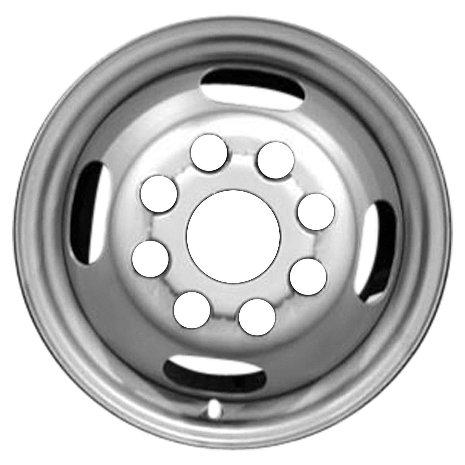 New 16x6 5 steel wheel rim dull silver full face painted 5125