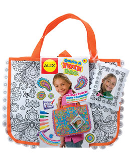 Color a Tote Bag from Alex Toys