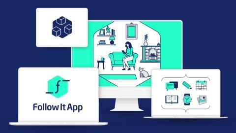 Follow It App branding mock-up