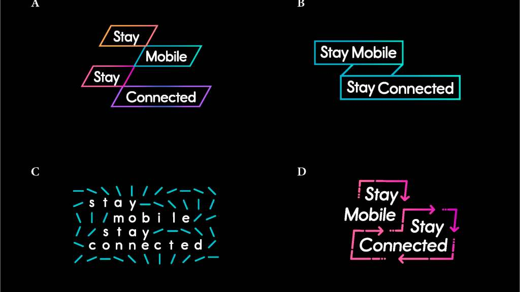 Stay Mobile Stay Connected - early logo concepts