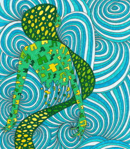 illustration bleu-vert cercles enroulés - mediaculture.fr