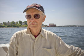 Paul Godfrey, a retired University of Massachusetts Amherst professor and barrier beach expert, did a pro-bono study for opponents on the hotel's environmental impact. He found that the waves during high tides and hurricanes hit dead center of the buildin