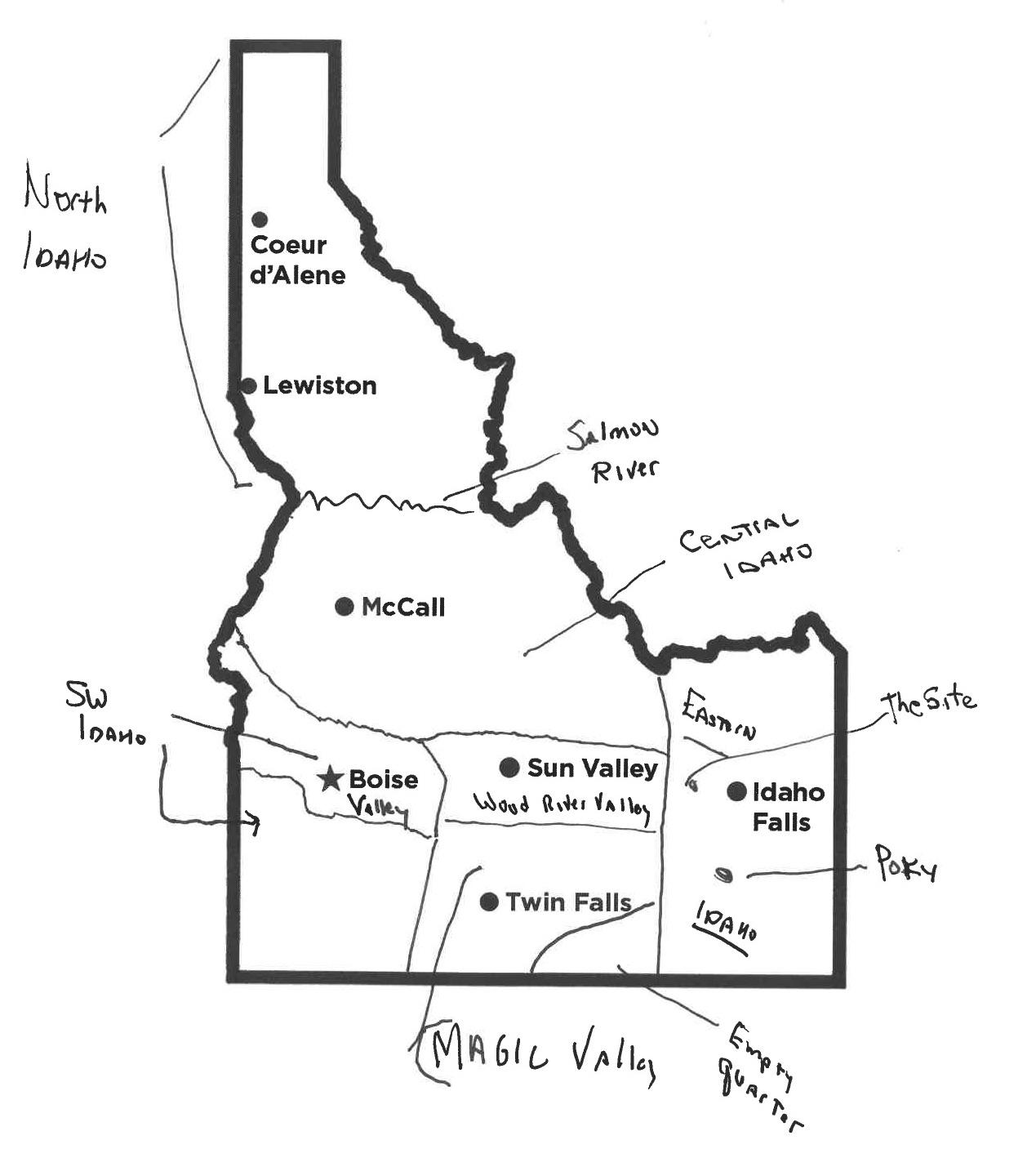 Here We Have Idaho How Would You Draw A Map Of Our State