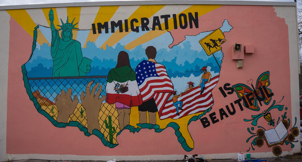 Image result for immigration is beautiful mural