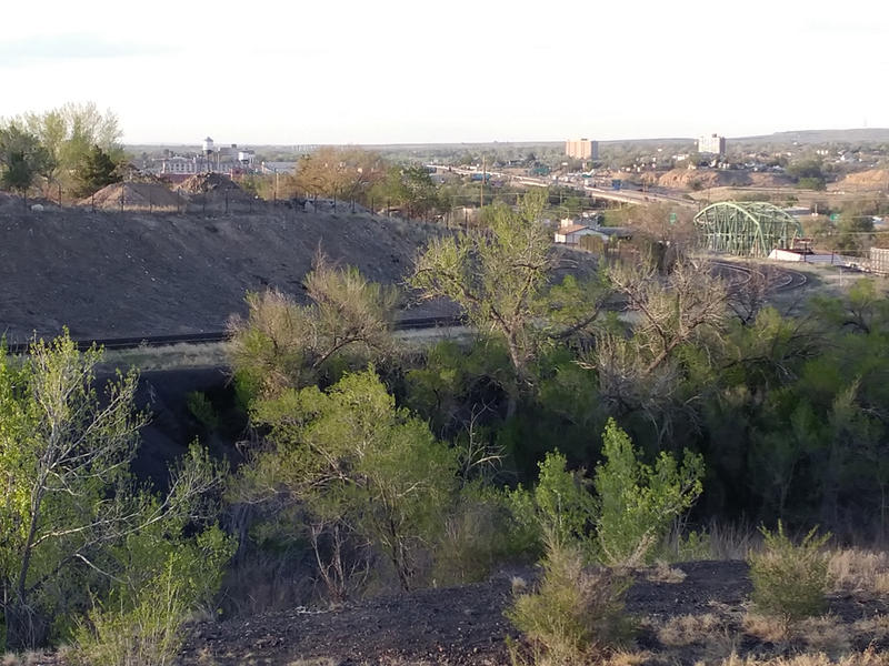 Looking north from a spot near the site of the former Colorado Smelter in Pueblo toward I25 and the Sante Fe Avenue Bridge. The Superfund study area extends to a radius of about a half a mile around this site and contains some 1,900 homes.