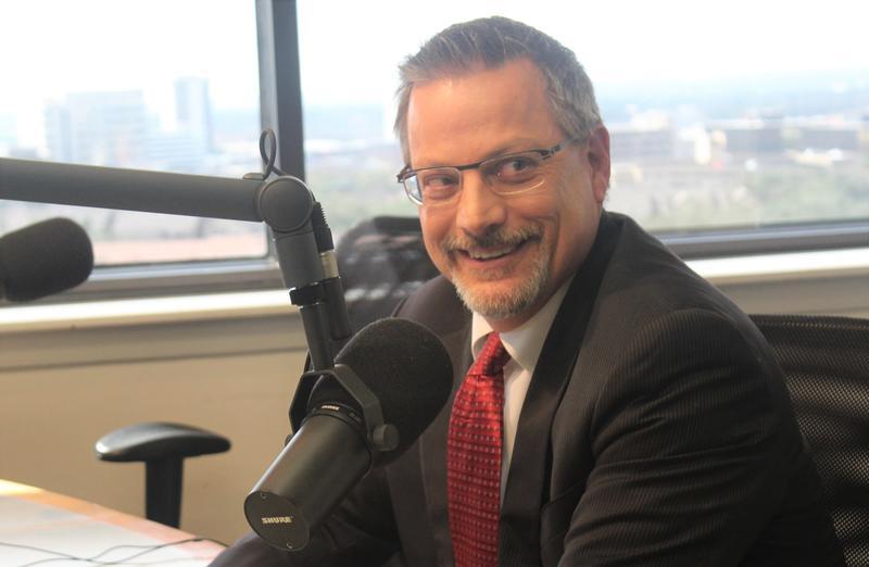 "DavidNisivoccia, President/CEO of theSan Antonio Housing Authority, in ""The Source"" studio."