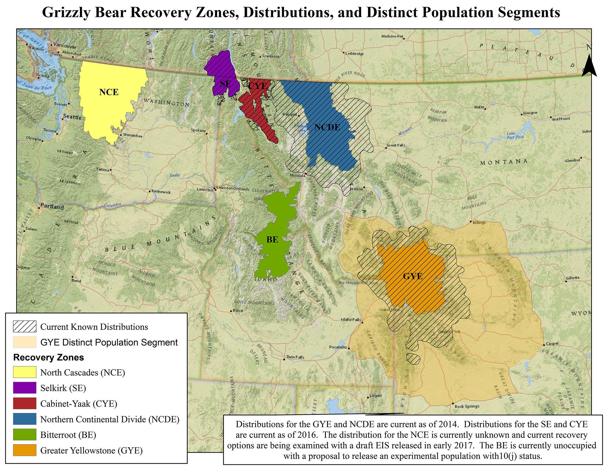 Habitat Plan For Northern Continental Divide Grizzlies
