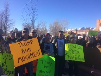 Monticello Bears Ears protest