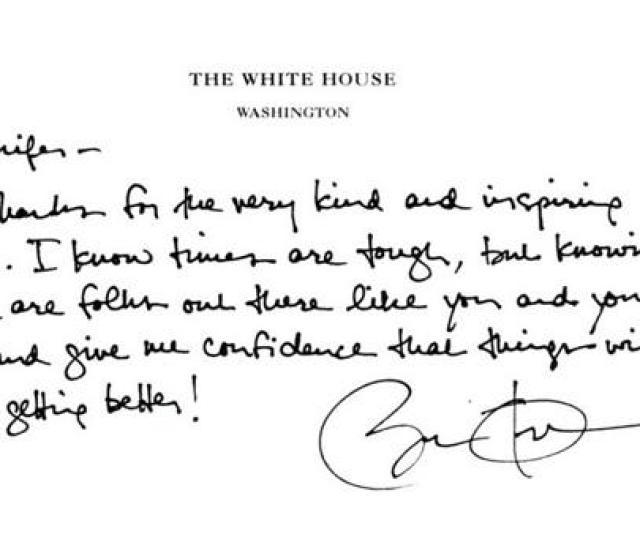 A Handwritten Letter From President Barack Obama