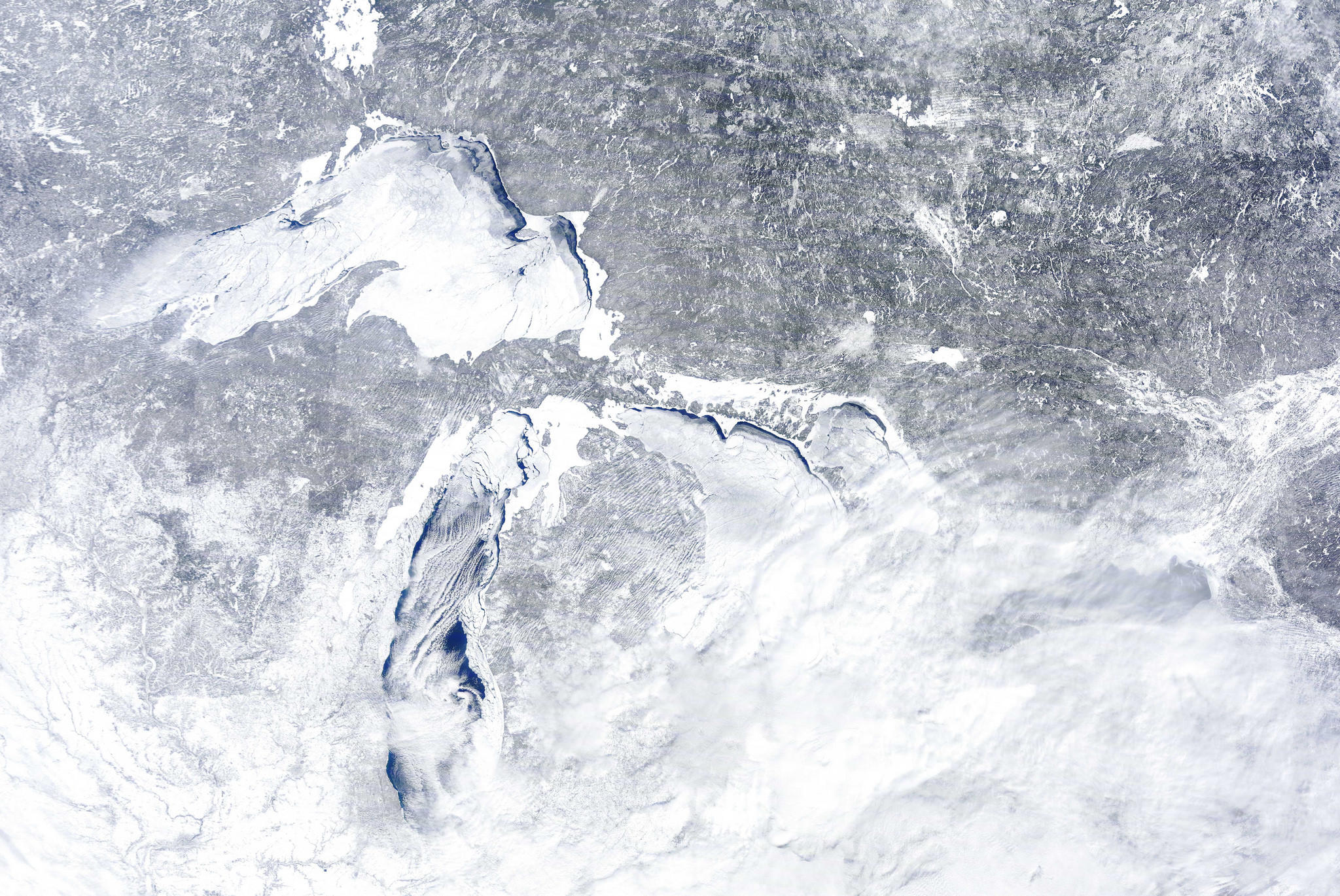 Watch A Time Lapse Video Of The Ice Forming On The Great Lakes