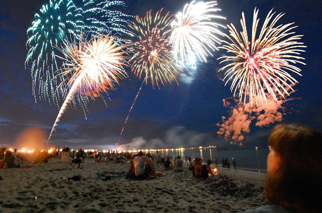 Theres Nothing Like Fireworks On The Beach