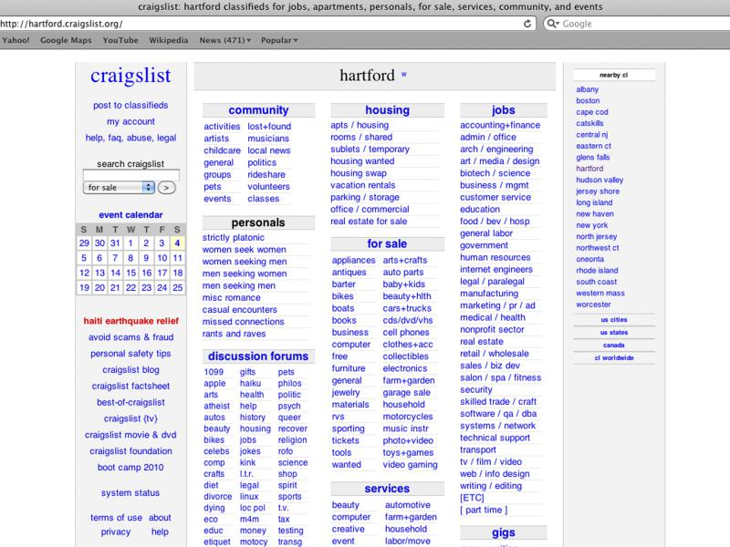 Craigslist Shuts Down Personals Section