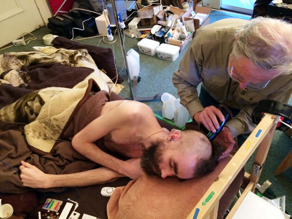 Ronald Davis cares for his 31-year-old son, Whitney Dafoe. Dafoe is seriously ill with ME/CFS. His father, a Stanford University professor, is organizing a study of the disorder.