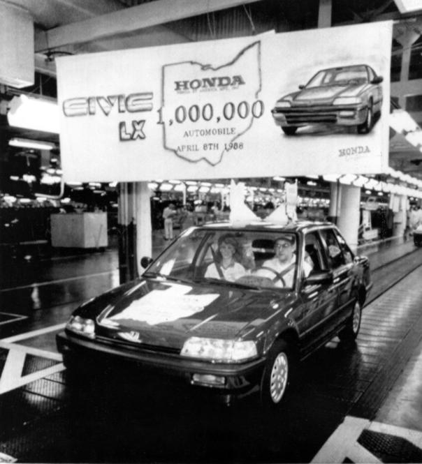 Image result for 1982 – Honda becomes the first Asian automobile company to produce cars in the United States with the opening of its factory in Marysville, Ohio; a Honda Accord is the first car produced there