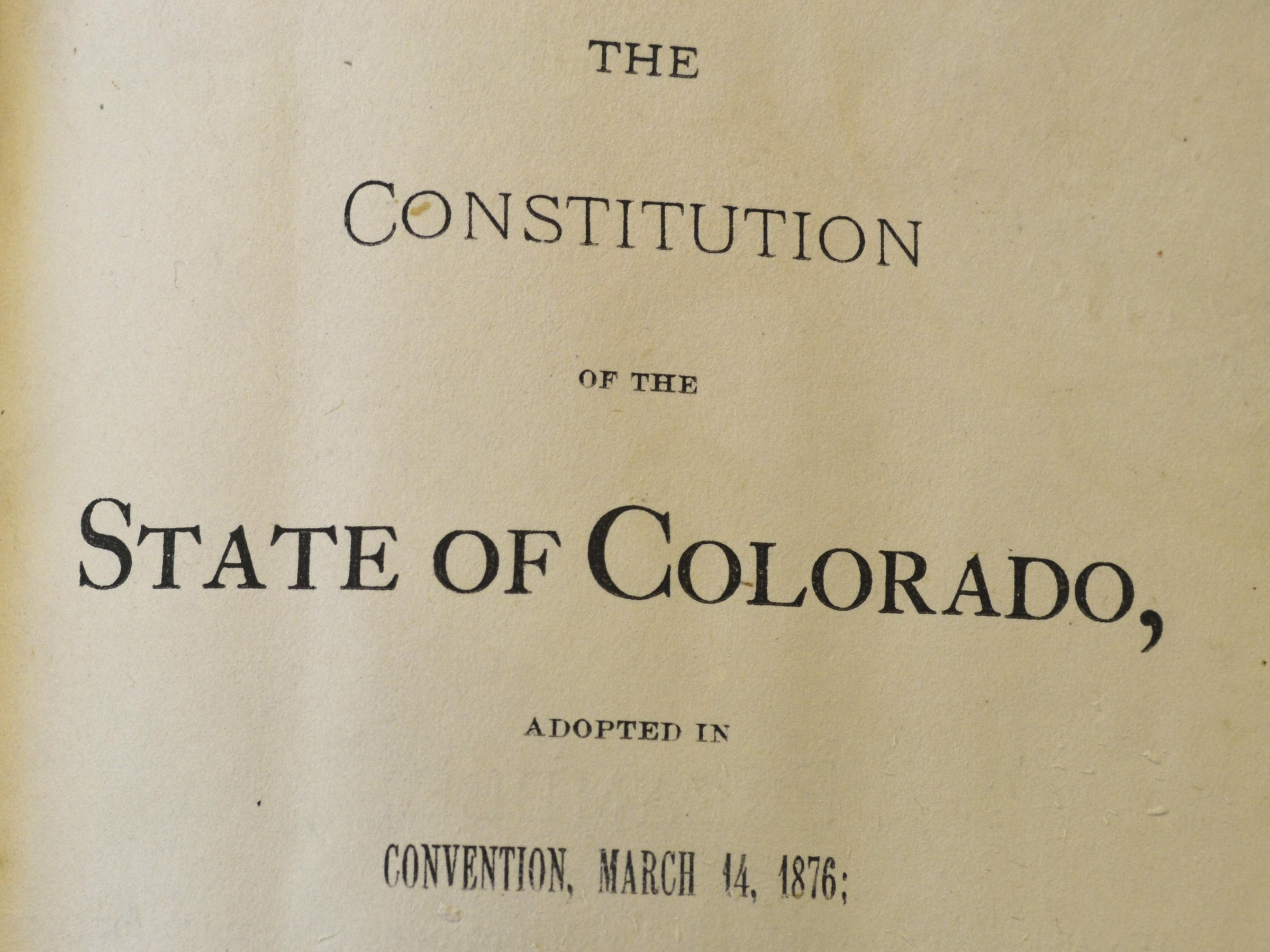 Colorado Votes To Abolish Slavery 2 Years After Similar