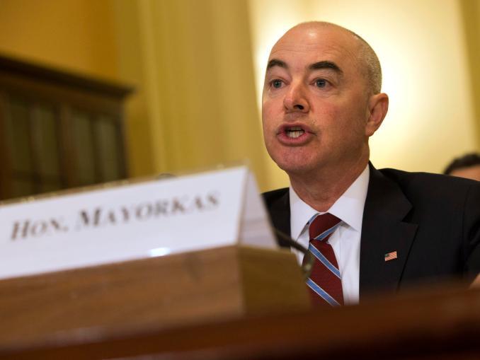 Alejandro Mayorkas testifying before Congress in 2015.