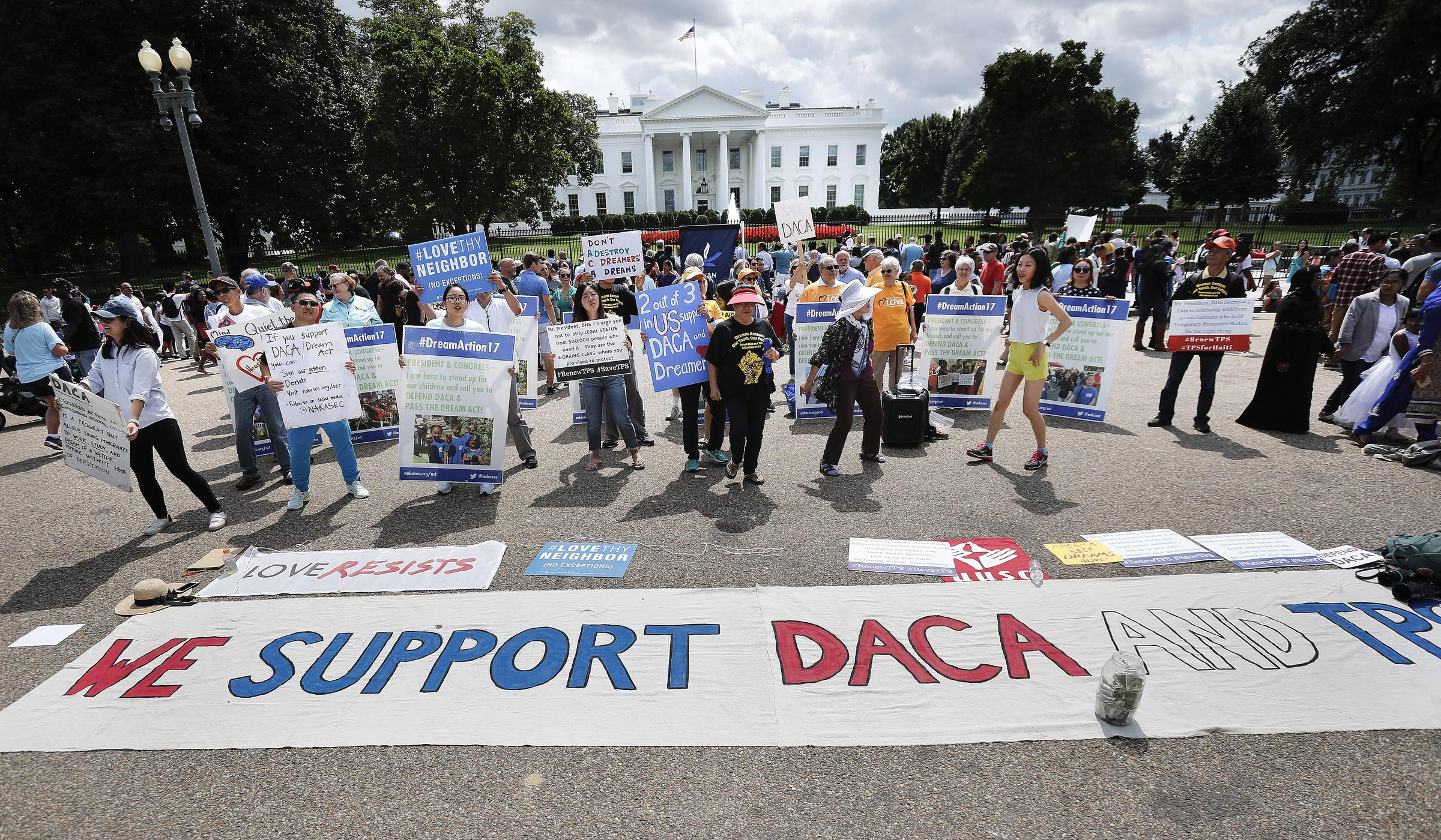Image result for images of DACA protests in Washington DC